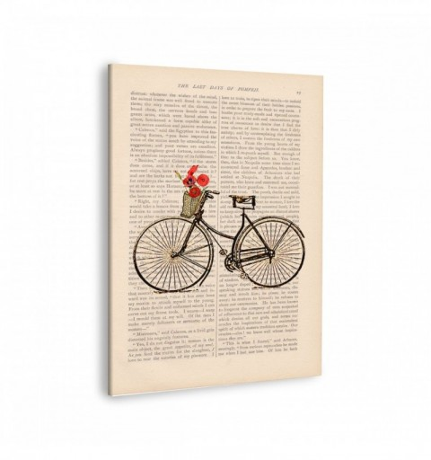 Bicycle Old Paper - Cuadro...