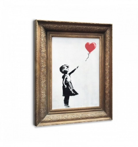 Girl with Balloon framed -...
